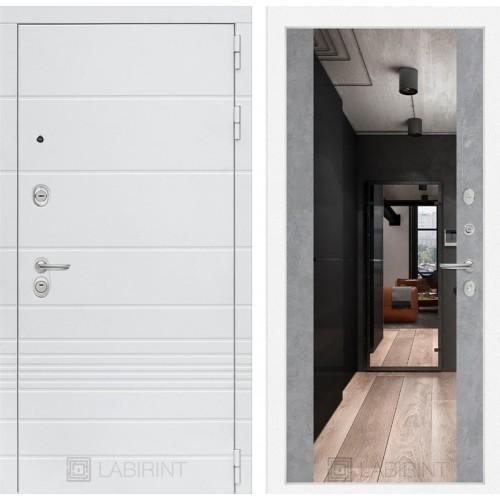 Входная дверь Трендо с Зеркалом Максимум - Бетон светлый