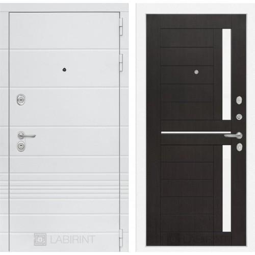Входная дверь Трендо 02 - Венге, стекло белое