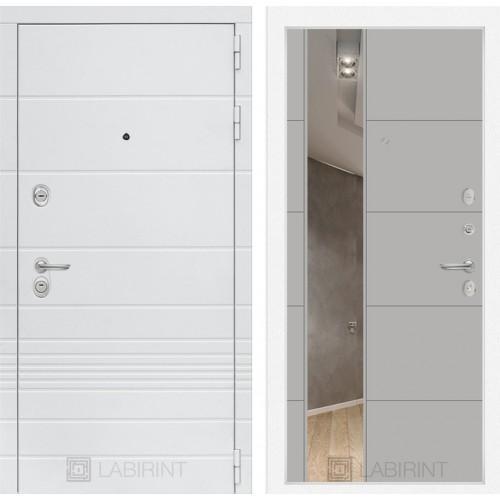 Входная дверь Трендо с Зеркалом 19 - Грей софт