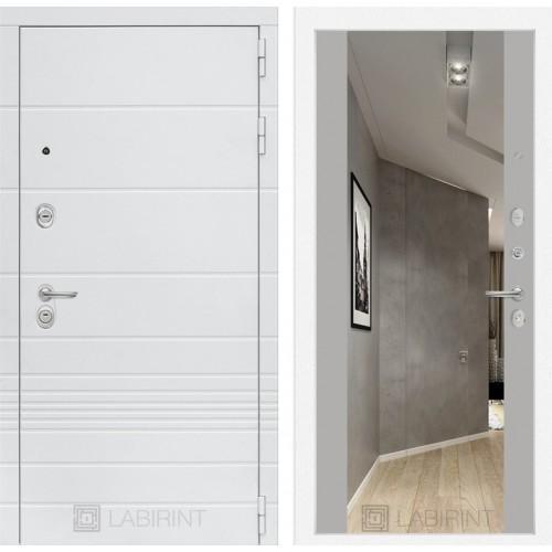 Входная дверь Трендо с Зеркалом Максимум - Грей софт