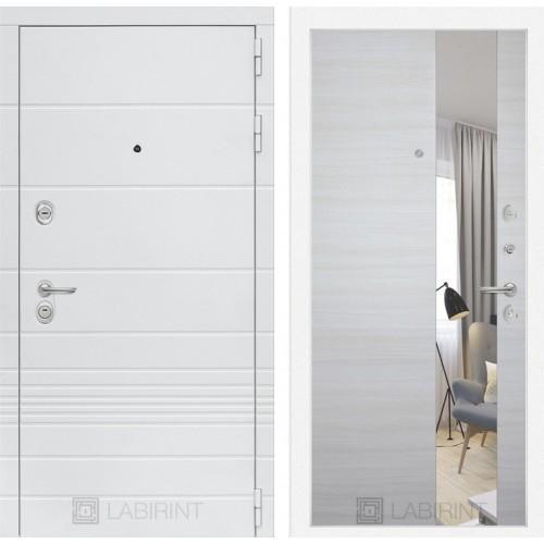 Входная дверь Трендо с Зеркалом - Акация светлая горизонтальная