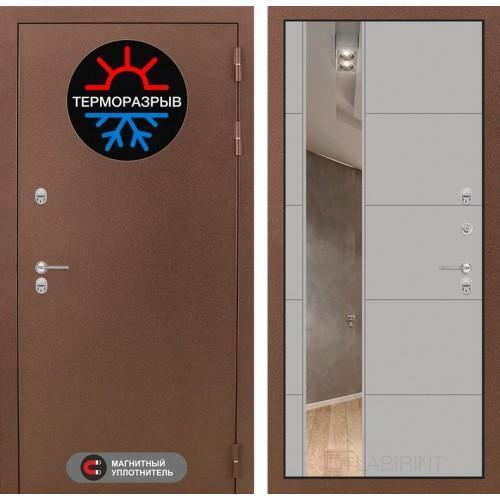 Входная дверь Термо Магнит с Зеркалом 19 - Грей софт