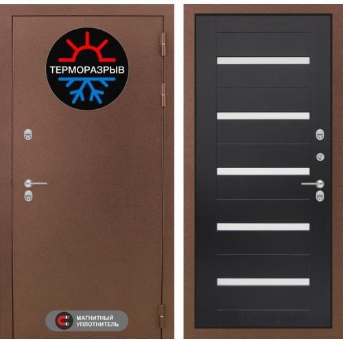 Входная дверь Термо Магнит 01 - Венге, стекло белое