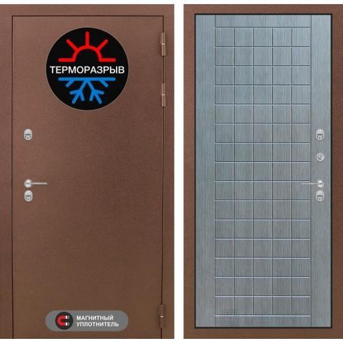 Входная дверь Термо Магнит 09 - Лен сильвер грей
