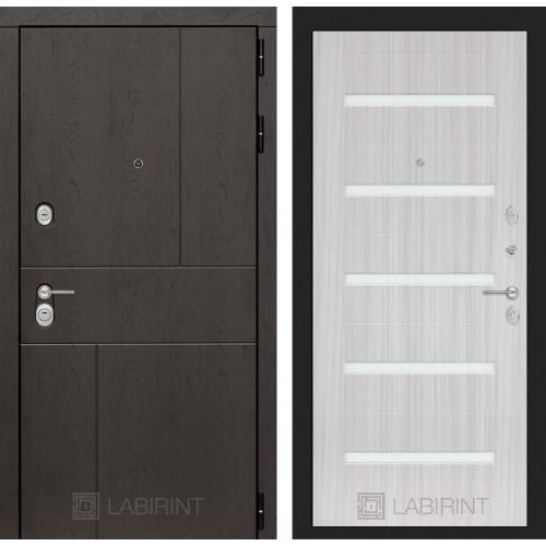 Входная дверь URBAN 01 - Сандал белый, стекло белое