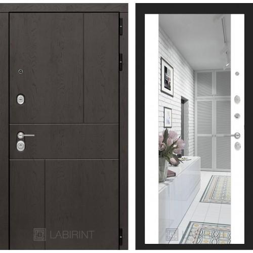 Входная дверь URBAN с Зеркалом Максимум - Белый софт