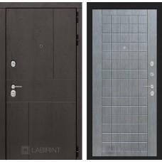 Входная дверь URBAN 09 - Лен сильвер