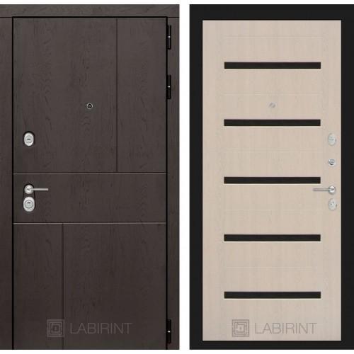 Входная дверь URBAN 01 - Беленый дуб, стекло черное
