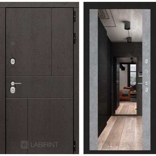 Входная дверь URBAN с Зеркалом Максимум - Бетон светлый