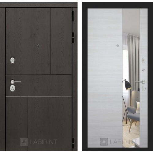 Входная дверь URBAN с Зеркалом - Акация светлая горизонтальная
