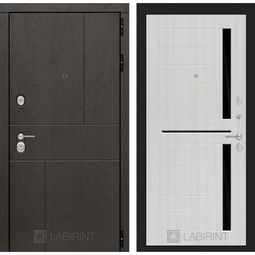 Входная дверь URBAN 02 - Сандал белый, стекло черное