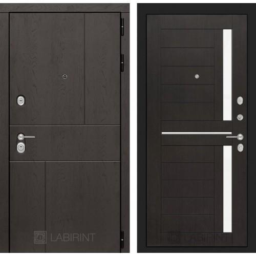Входная дверь URBAN 02 - Венге, стекло белое