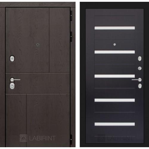 Входная дверь URBAN 01 - Венге, стекло белое