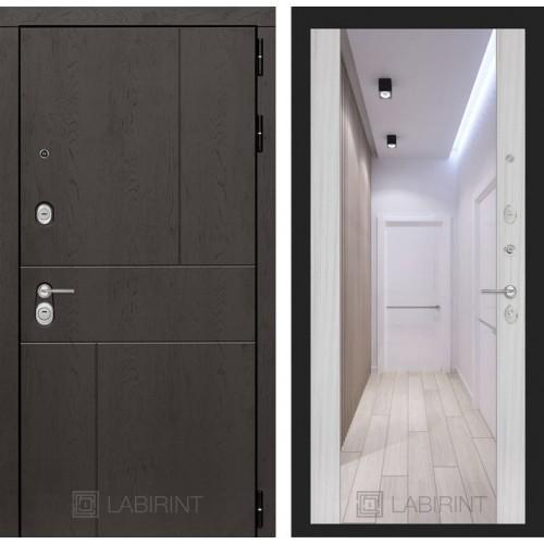 Входная дверь URBAN с Зеркалом Максимум - Сандал белый