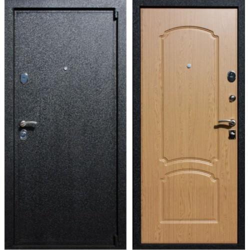Входная дверь - Аристократ Маг -3 Чёрный Крокодил- дуб светлый