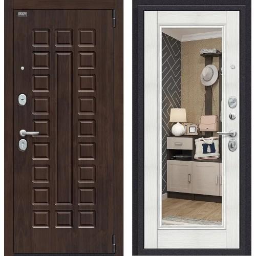 Входная дверь - Урбан NEW П-28 (Темная Вишня)/Bianco Veralinga