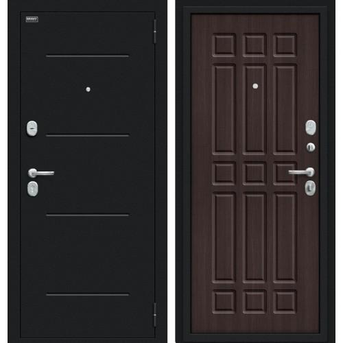 Входная дверь - Мило 104.52 Букле черное/Wenge Veralinga