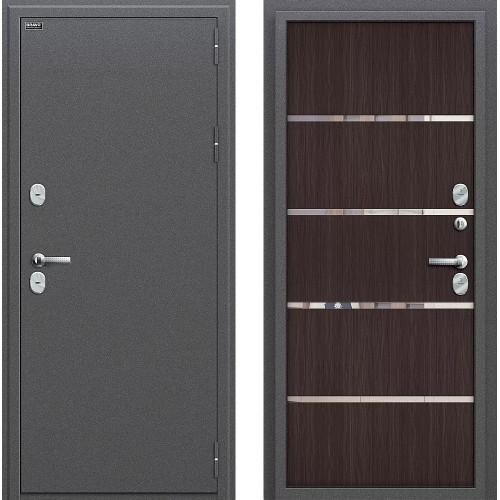 Входная дверь - Термо 204 Антик Серебро/Wenge Veralinga