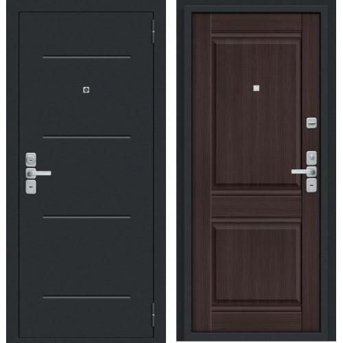 Входная дверь Нео Муар антрацит/Wenge Veralinga