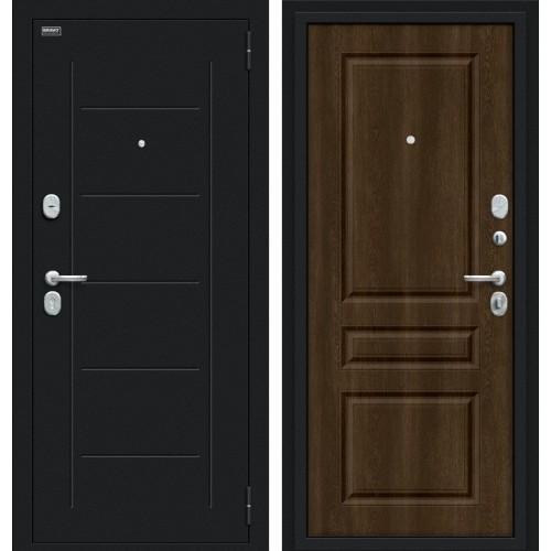 Входная дверь - Пик 117.С14 Букле черное/Dark Barnwood