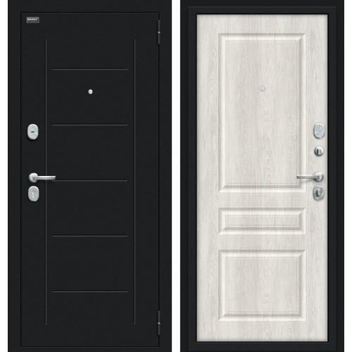 Входная дверь - Пик 117.С14 Букле черное/Casablanca