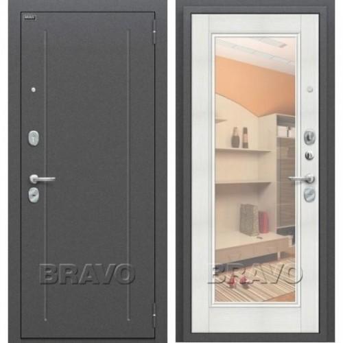 Входная дверь - Флэш Антик Серебро/Bianco Veralinga