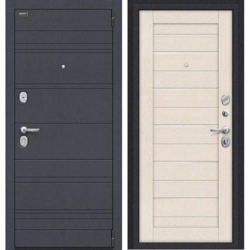 Входная дверь - Сканди П-37 (Graphite Wood)/Cappuccino Softwood