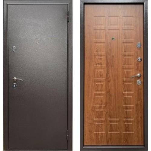 Входная дверь - Бульдорс Econom Букле шоколад / Дуб золотой Е-110
