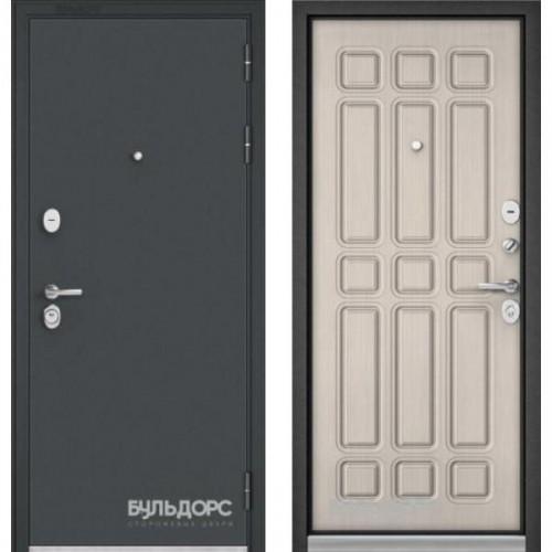 Входная дверь - Бульдорс STANDART 90 черный шелк /Ларче бьянко 9S-111
