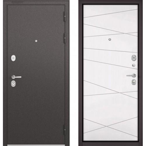 Входная дверь - STANDART - 90 (МР Черный шелк/Белый софт 9S-130)