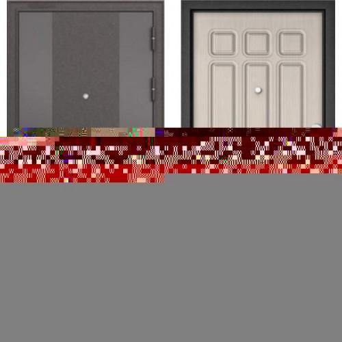 Входная дверь - STANDART 90 (МР Черный шелк 9К-4/Ларче бьянко 9S-111 )