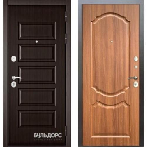 Входная дверь - MASS-90(РР Ларче шоколад 9S-108 /Орех лесной 9SD-4)