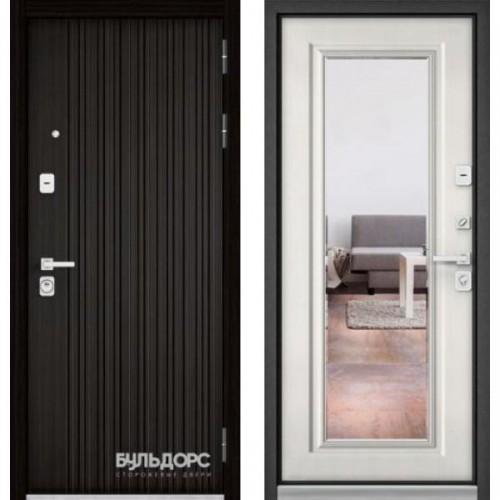 Входная дверь - PREMIUM 90(ЛАРЧЕ ТЕМНЫЙ 9Р-131/Ларче бьянко - зеркало 9Р-140)