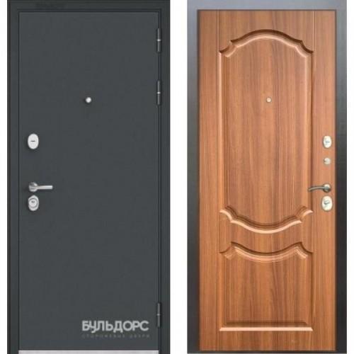 Входная дверь - STANDART - 90 (МР Черный шелк/Орех лесной 9SD-4)