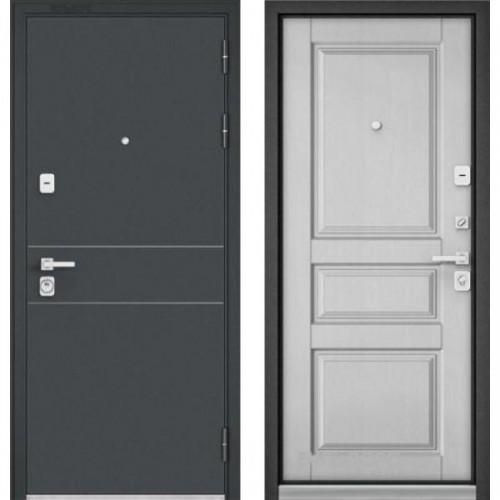 Входная дверь - PREMIUM 90 Черный шелк D14 / Дуб белый матовый 9РD-2