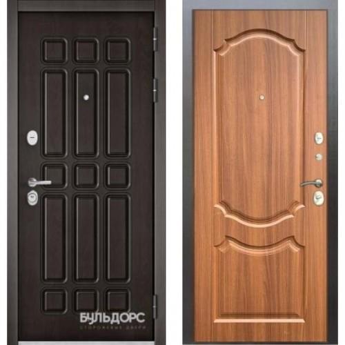 Входная дверь - STANDART - 90 (РР Дуб шоколад 9S-111/Орех лесной 9SD-4)