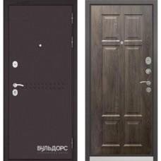 Входная дверь - Бульдорс MASS-90( Букле шоколадR-4 /Дуб шале серебро 9S-109 )