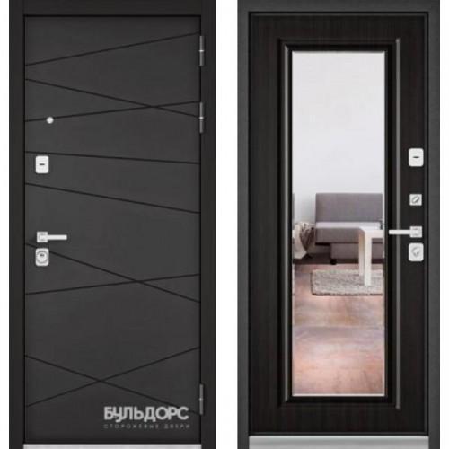 Входная дверь - Бульдорс PREMIUM 90 Графит софт 9Р-130 с зеркалом, Цвет
