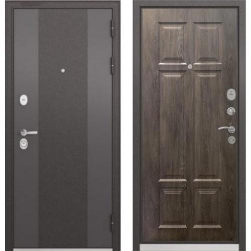 Входная дверь - STANDART 90 (МР Черный шелк 9К-4/Дуб шале серебро 9S-109 )