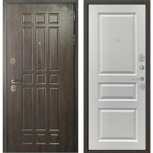 Входная дверь - STANDART - 90 (РР Дуб шоколад 9S-111/ Ларче белый 9SD-2)