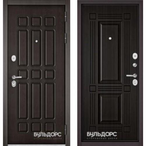Входная дверь - STANDART 90 (PPДуб Шоколад 9S-111/Ларче темный 9S-104)