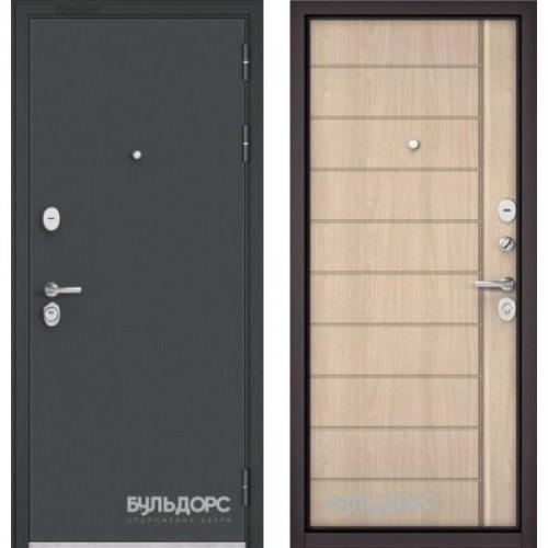 Входная дверь - STANDART - 90 (МРЧерный шелк/ Ясень ривьера крем 9S-136)