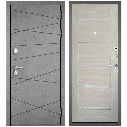 Входная дверь - STANDART 90 (PPШтукатурка серая 9S-130/Дуб жемчужный GR-3)