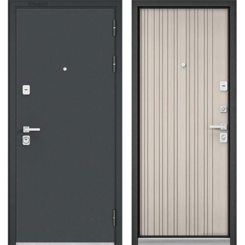 Входная дверь - Бульдорс PREMIUM 90 Черный шелк /Ларче бьянко 9Р-131