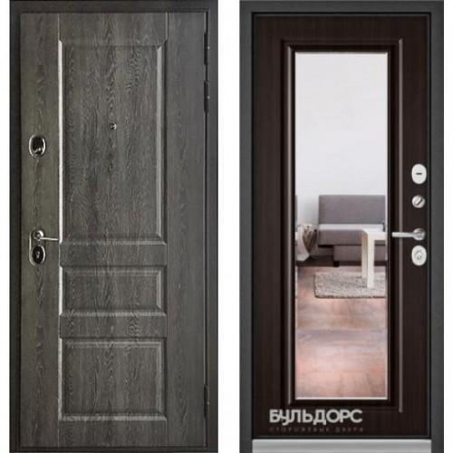 Входная дверь - Бульдорс STANDART 90 (РР Дуб графит 9SD-2/Ларче шоколад зеркало 9S-140 )