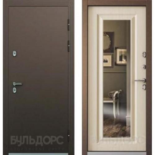 Входная дверь - Дверь Бульдорс Термо Медь/Белый перламутр, рис. ТВ-8.2 (зеркало)