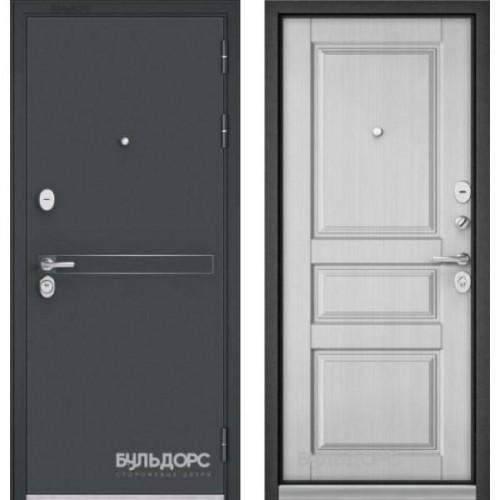 Входная дверь - Бульдорс STANDART 90 Черный шелк D4 / ларче белый9SD-2