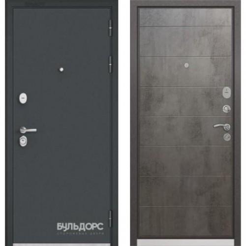 Входная дверь - STANDART - 90 ( МР Черный шелк/Бетон темный 9S-135)