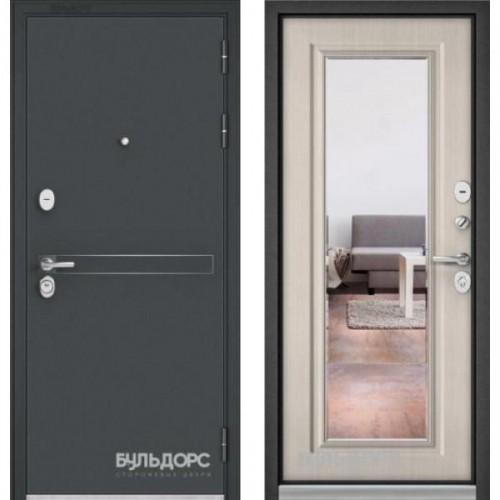Входная дверь - STANDART 90 (МР Черный шелк D-4/Ларче бьянко -9S-140 )