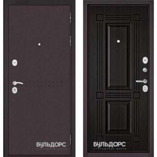 Входная дверь - MASS-90 -(МР Букле шоколад R-4 / Ларче темный 9S-104)